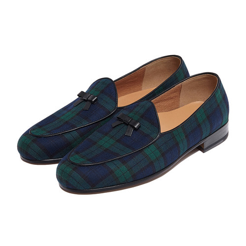 -[PAUL HAN] BELGIAN LOAFER - TARTAN CHECK