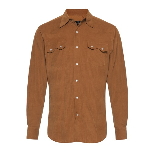 [SAVAGE] Corduroy Western Shirts - Brown