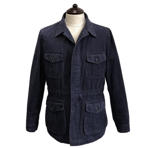 [SORTIE]Washed Fatigue Jacket (Navy)