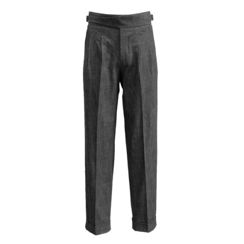 [SORTIE]Denim Gurkha Pants (Black)