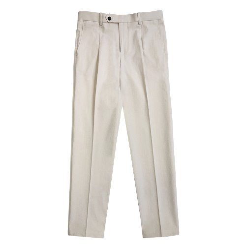 [SORTIE]12s Cotton Denim Trousers (Ivory)