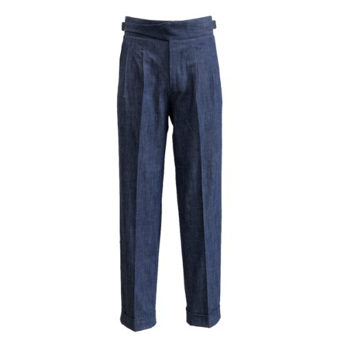 [SORTIE]Denim Gurkha Pants (Blue)