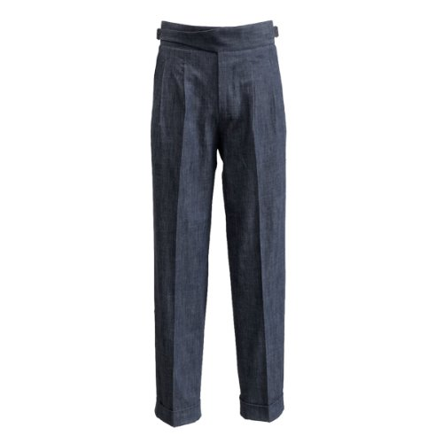 [SORTIE]Denim Gurkha Pants (Navy)
