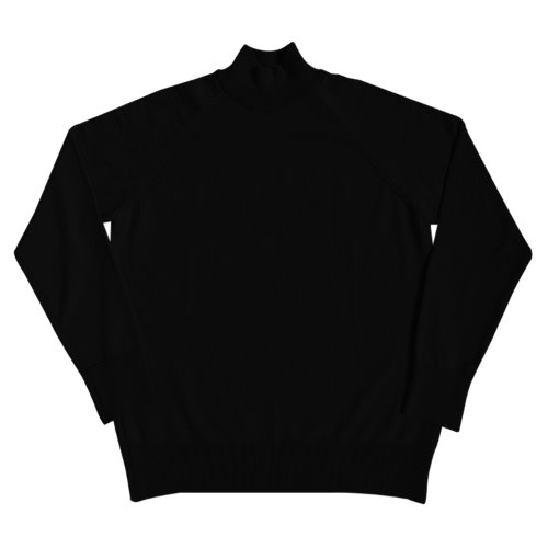 [SORTIE]Superfine Merino Wool Mock-neck (Black)