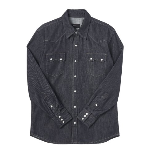 [savage]Denim Western Shirts - Dark Blue