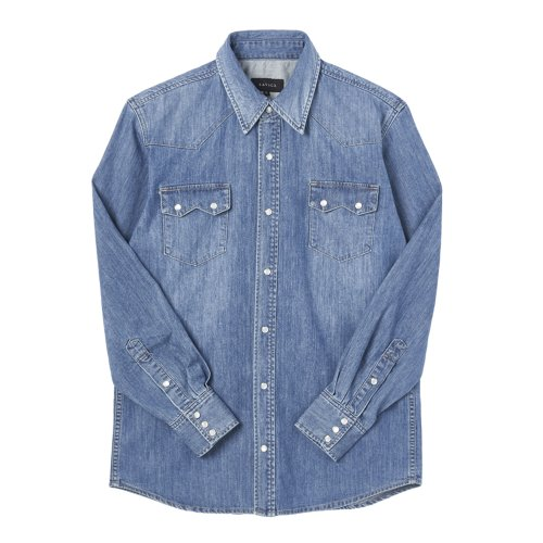 SAVAGE[SAVAGE] Denim Western Shirts - Blue