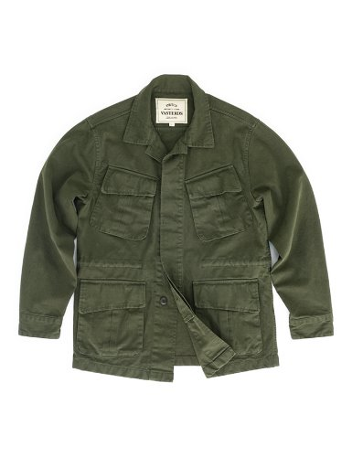 [ORTUS VASTERDS]GARMENT FATIGUE JACKET KHAKI