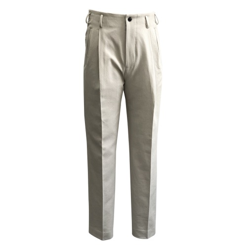[SORTIE] No5b Cotton gabardine Trousers (Ivory)
