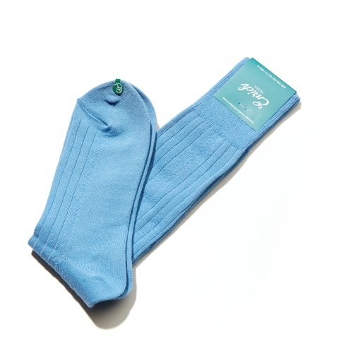 ENRICH[Enrich] Bamboo Socks - Skyblue Diamond Rib