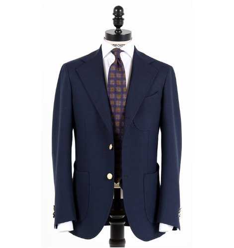 L'uniforme2020 SS Spring Bird's eye navy blazer