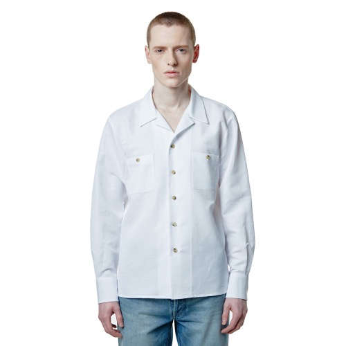 SAVAGE2020 Cuban Linen Shirts - White