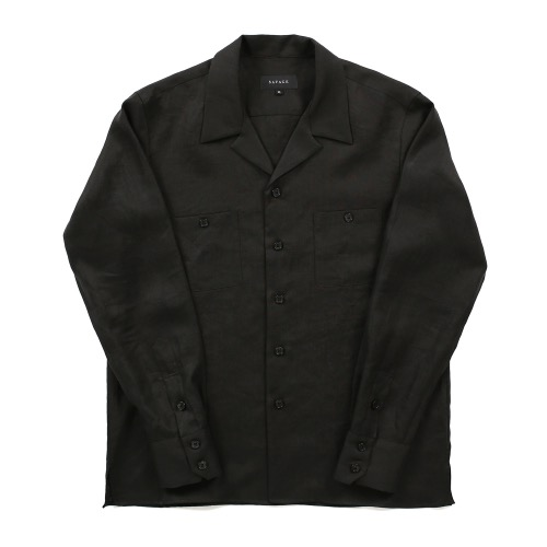SAVAGE[SAVAGE] 2020 Cuban Linen Shirts - Black