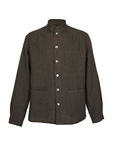FRUI[FRUI] S/S Herringbone linen Comfortable jacket-Brown