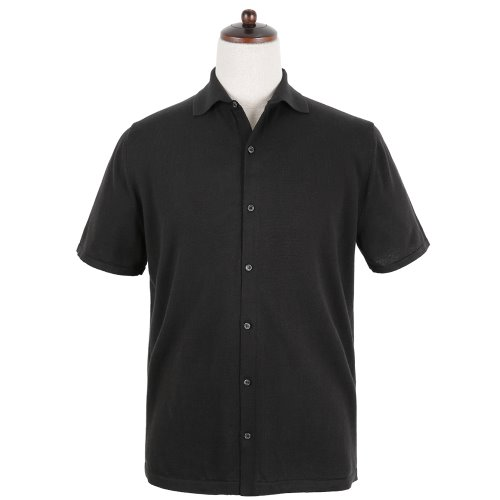 SORTIE16gg Silk Knit Shirts (Black)