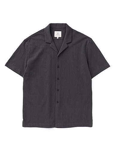 IOLO[IOLO] Mesh Cotton Shirt_Charcoal
