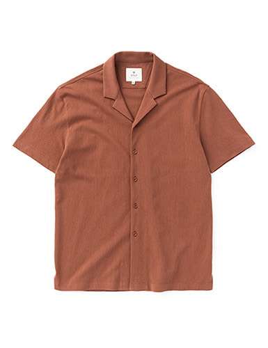 IOLO[IOLO] Mesh Cotton Shirt_Brick