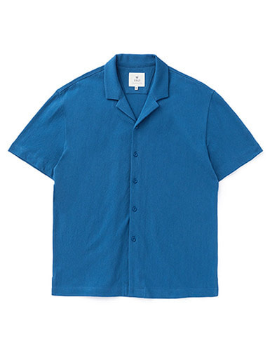 IOLO[IOLO] Mesh Cotton Shirt_Blue