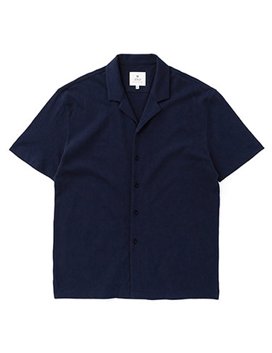 IOLO[IOLO] Mesh Cotton Shirt_Navy
