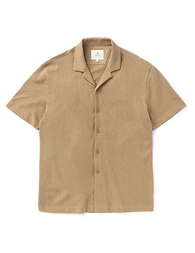 IOLO[IOLO] Mesh Cotton Shirt_Beige