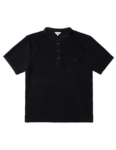 ERD[ERD] - Henly neck T-shirts Black