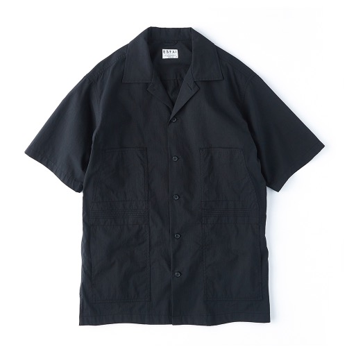 ESFAI[ESFAI] Finger Stitch Shirts (Black)