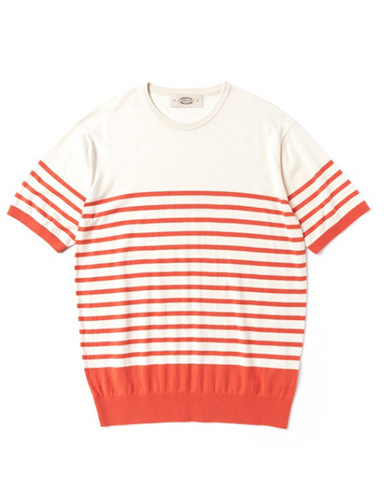 AMFEAST[AMFEAST]PABLO ROUND SUMMER KNITWEAR ORANGE