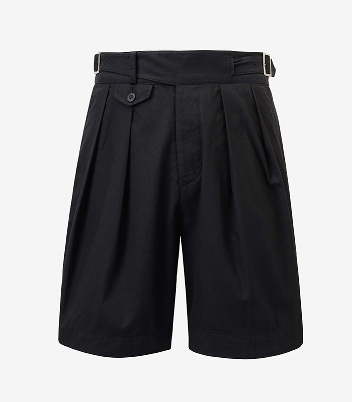 -[MEVERICK] GURKHA SHORTS - BLACK