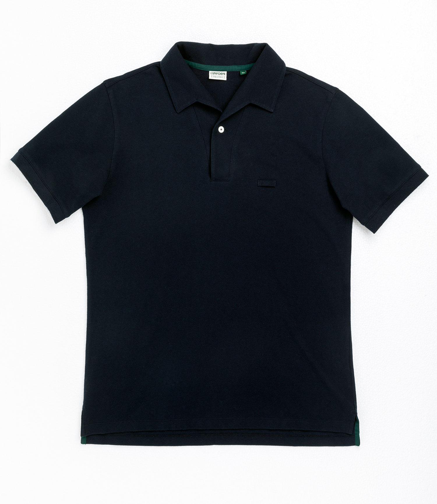 -L'uniforme] One piece collar pique shirt - Navy