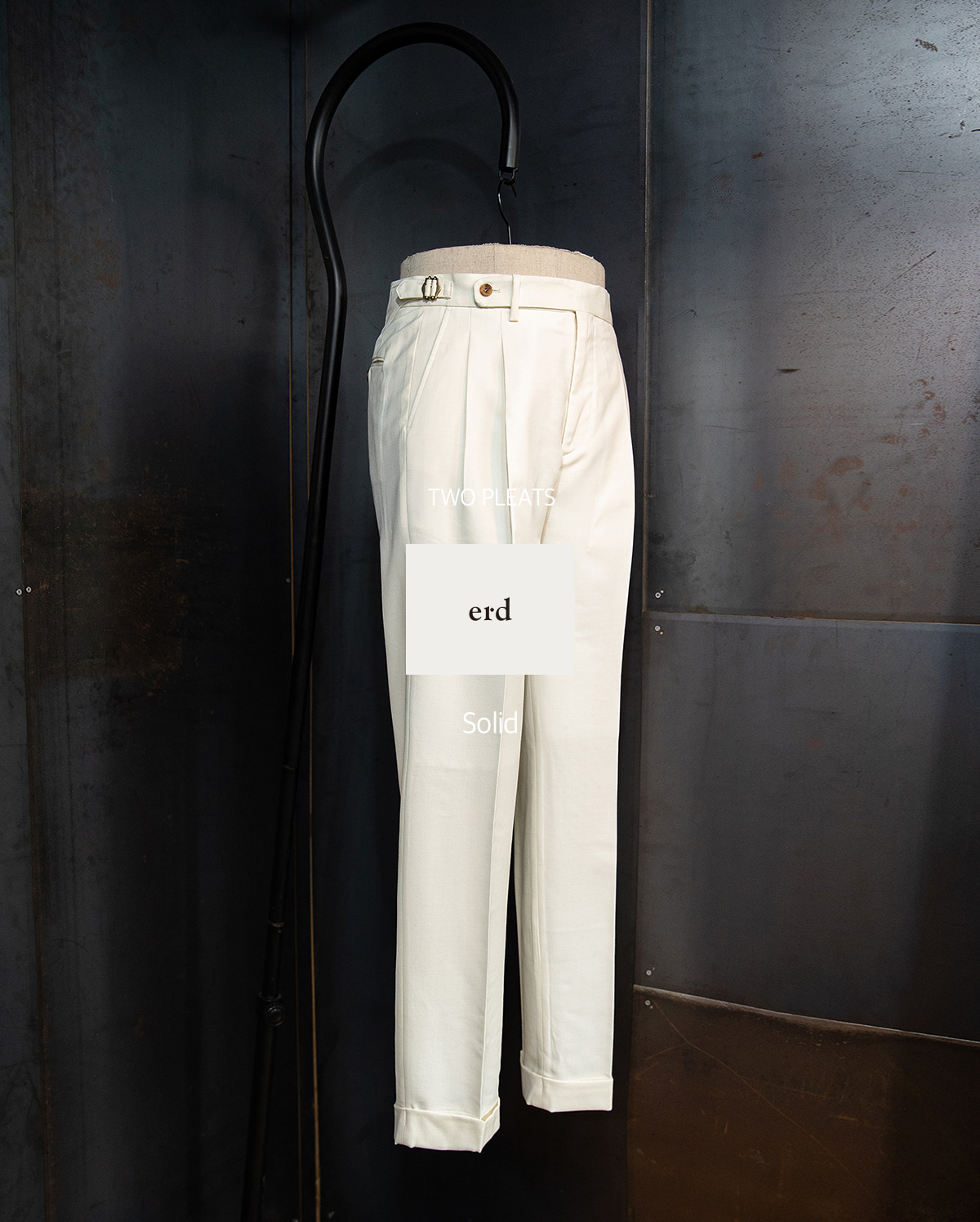 -[ERD] Two pleats Trousers - Cream