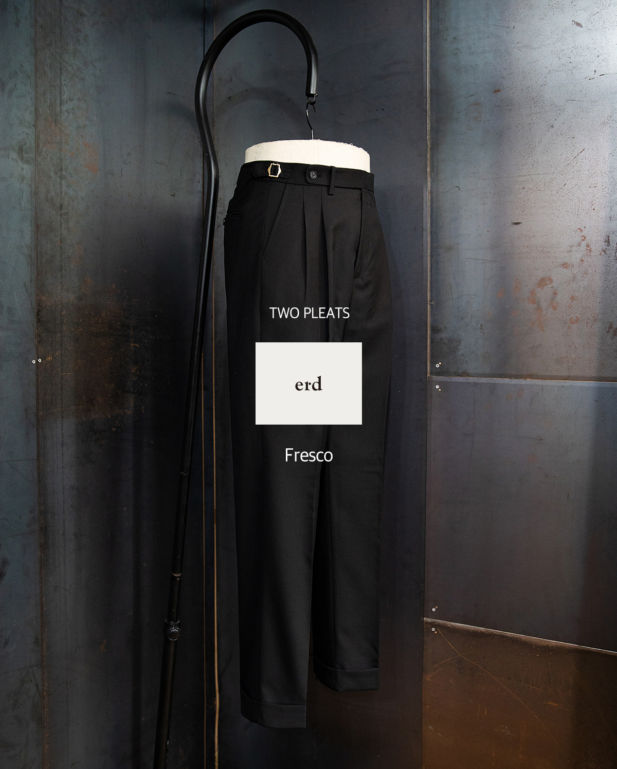 -[ERD] Two pleats trousers - black
