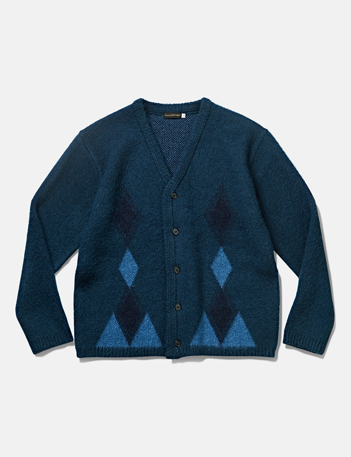 -[DEUTERO] DTR1932 Past Mohair Cardigan Vintage Blue