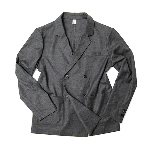 -[ERD] French double jacket charcoal