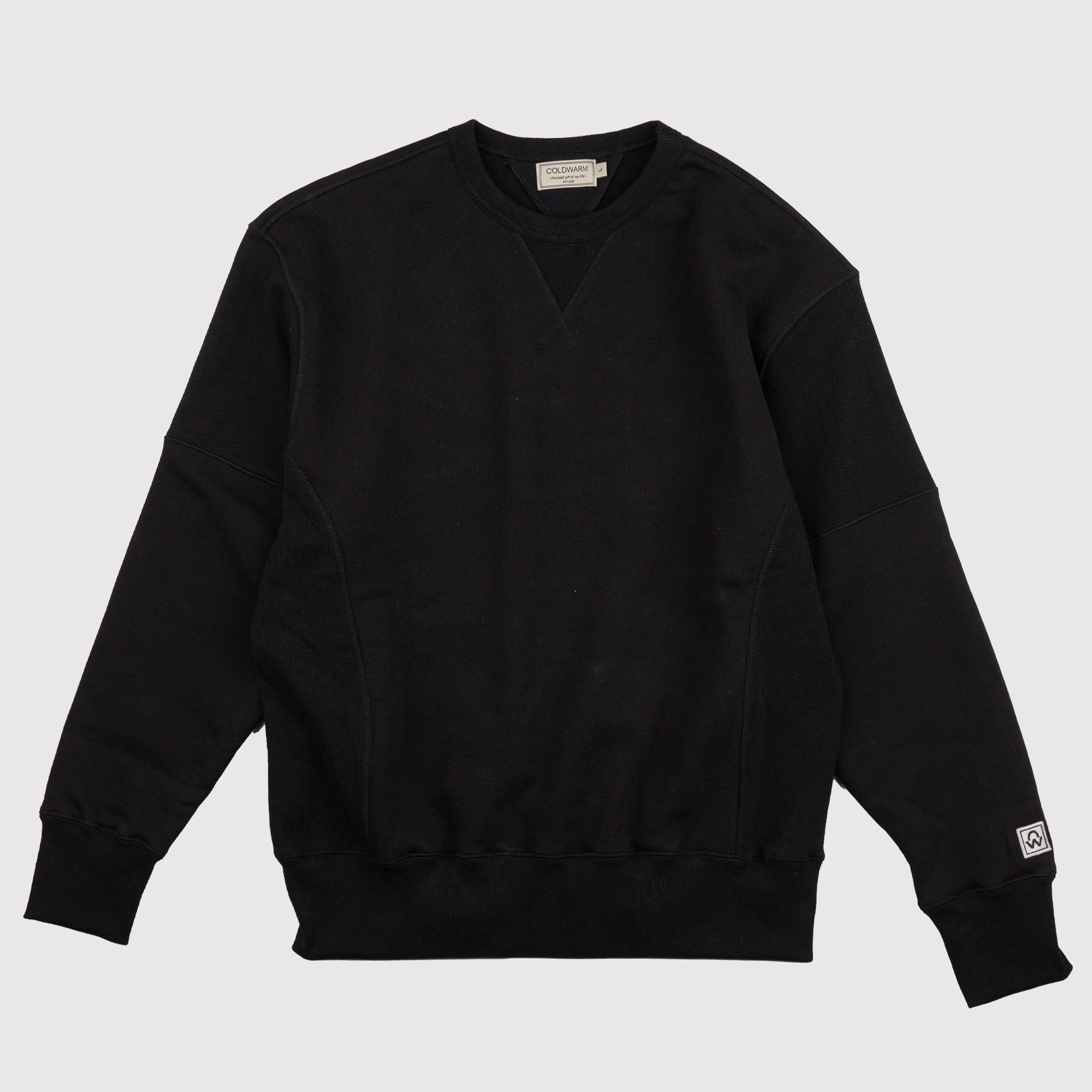 -[COLDWARM] Reversible SWEAT SHIRT - BLACK