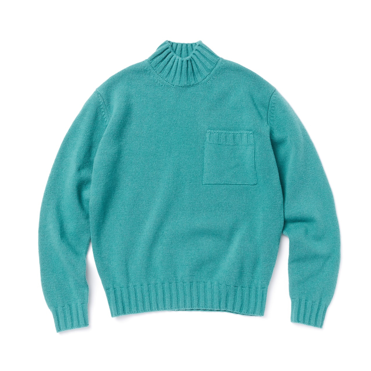 -[AMFEAST] GREEN BIG POCKET SWEATER