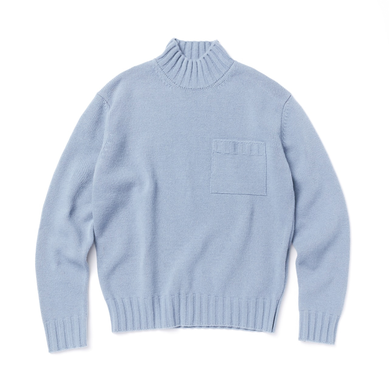 -[AMFEAST] SKY BLUE BIG POCKET SWEATER