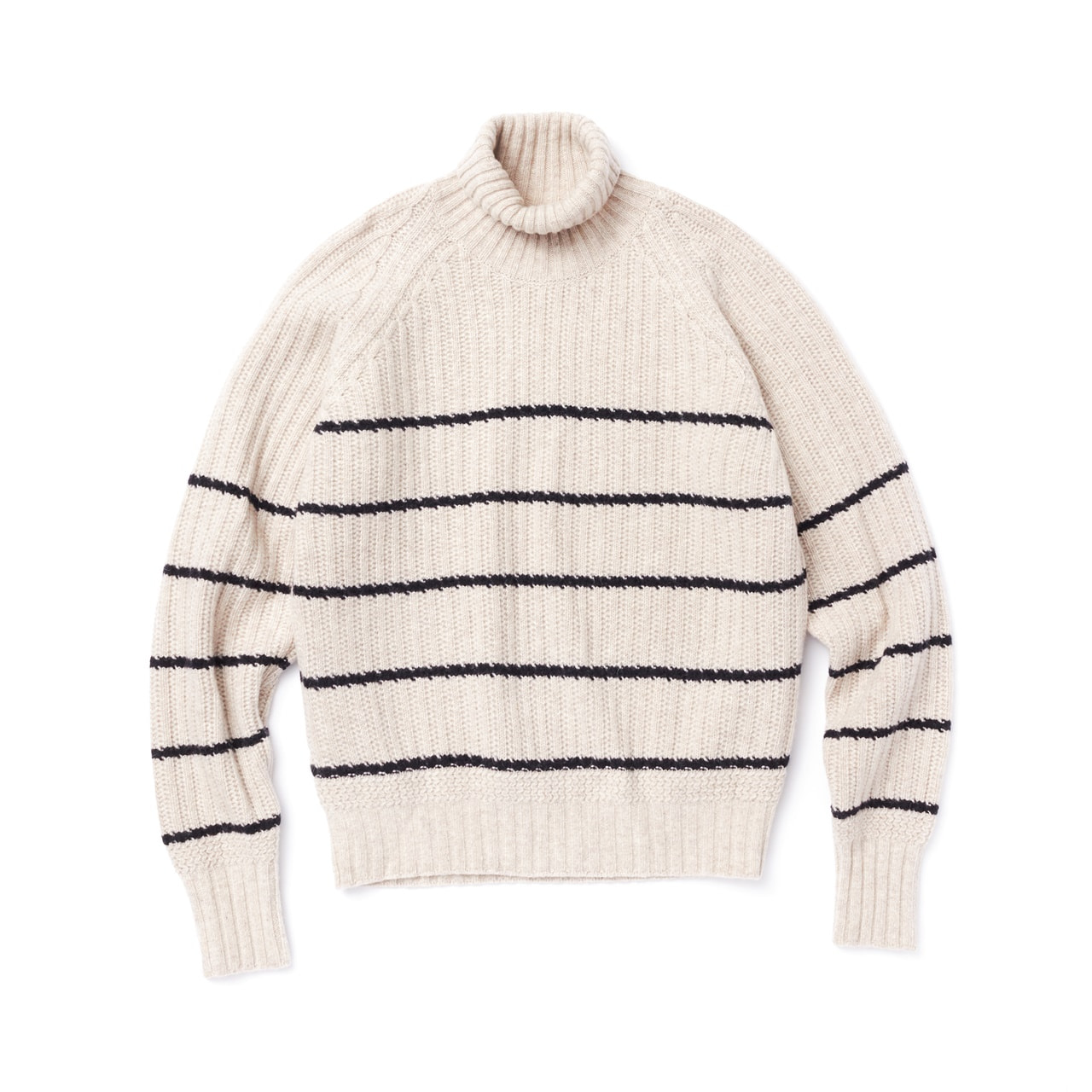 -[AMFEAST] COOKE & CREAM STRIPED FISHERMAN SWEATER