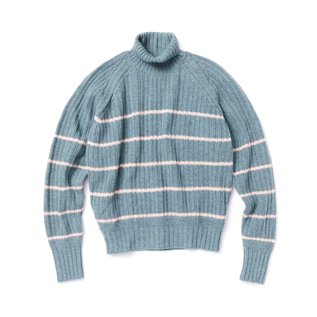 -[AMFEAST] MINT STRIPED FISHERMAN SWEATER