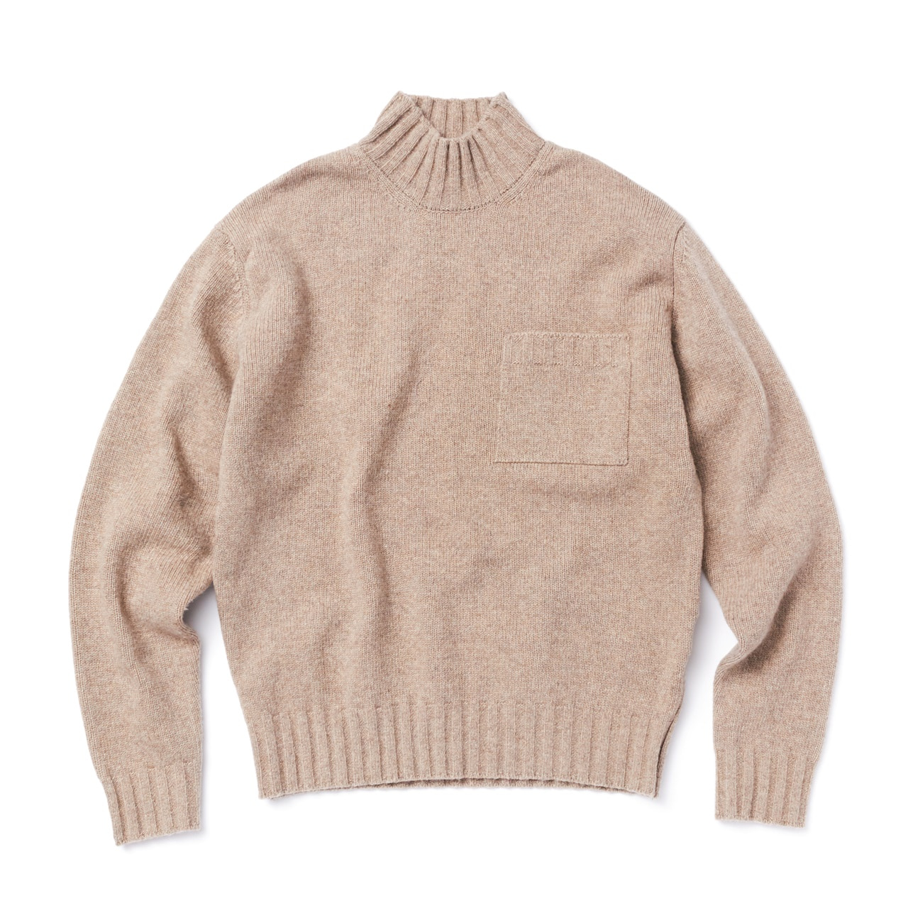 -[AMFEAST] BEIGE BIG POCKET SWEATER