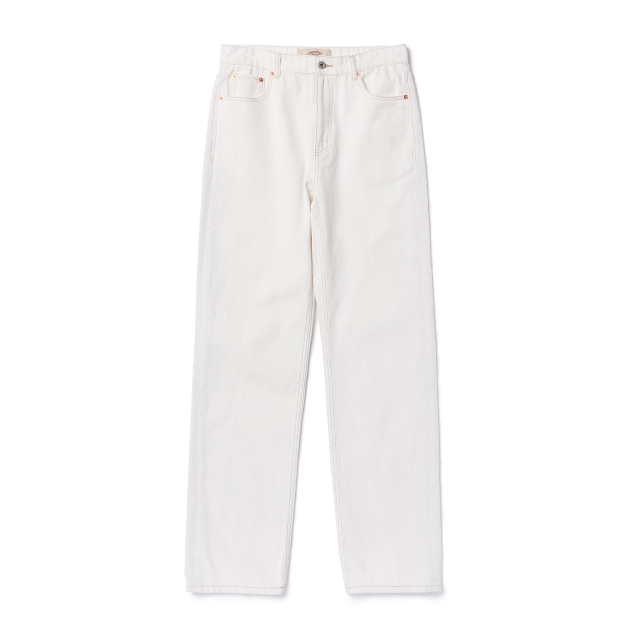 -[AMFEAST] WHITE REGULAR FIT 5 POCKET PANTS