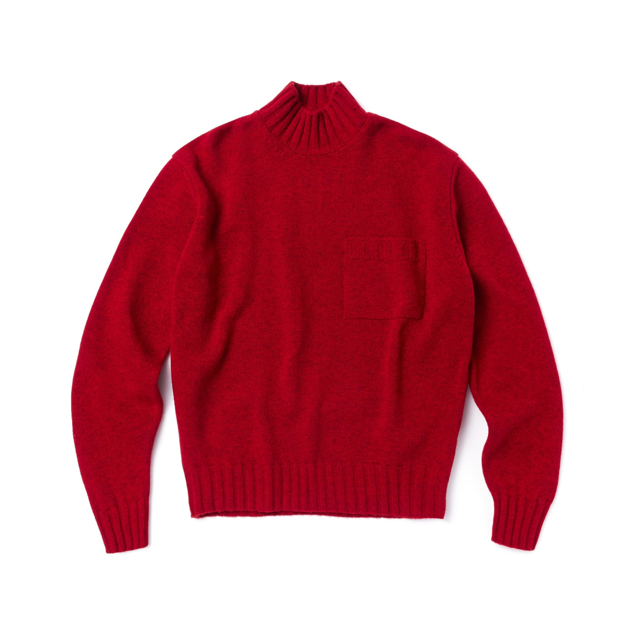 -[AMFEAST] RED BIG POCKET SWEATER