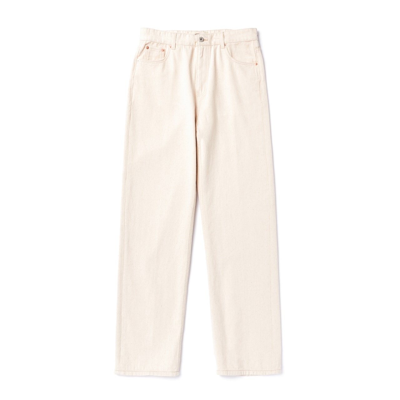 -[AMFEAST] CREAM REGULAR FIT 5 POCKET PANTS