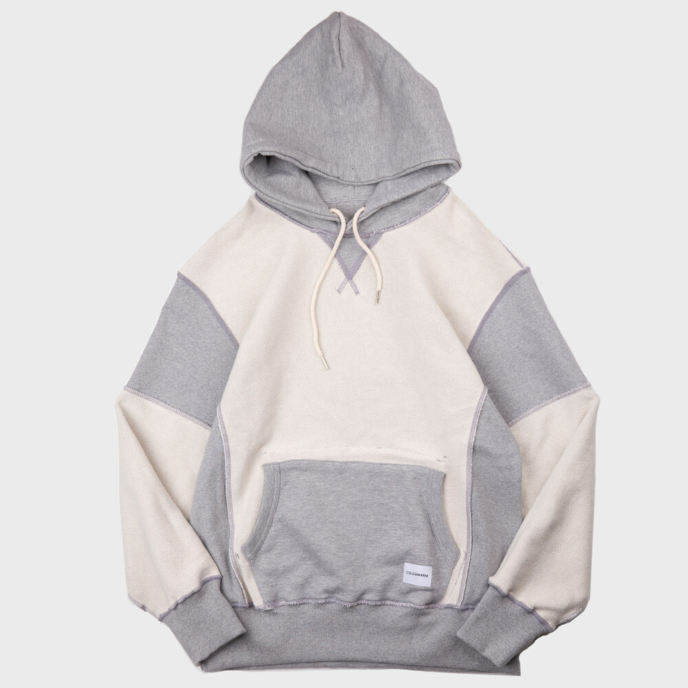 -[COLDWAM] Sweat Hoodie - Reversible Grey