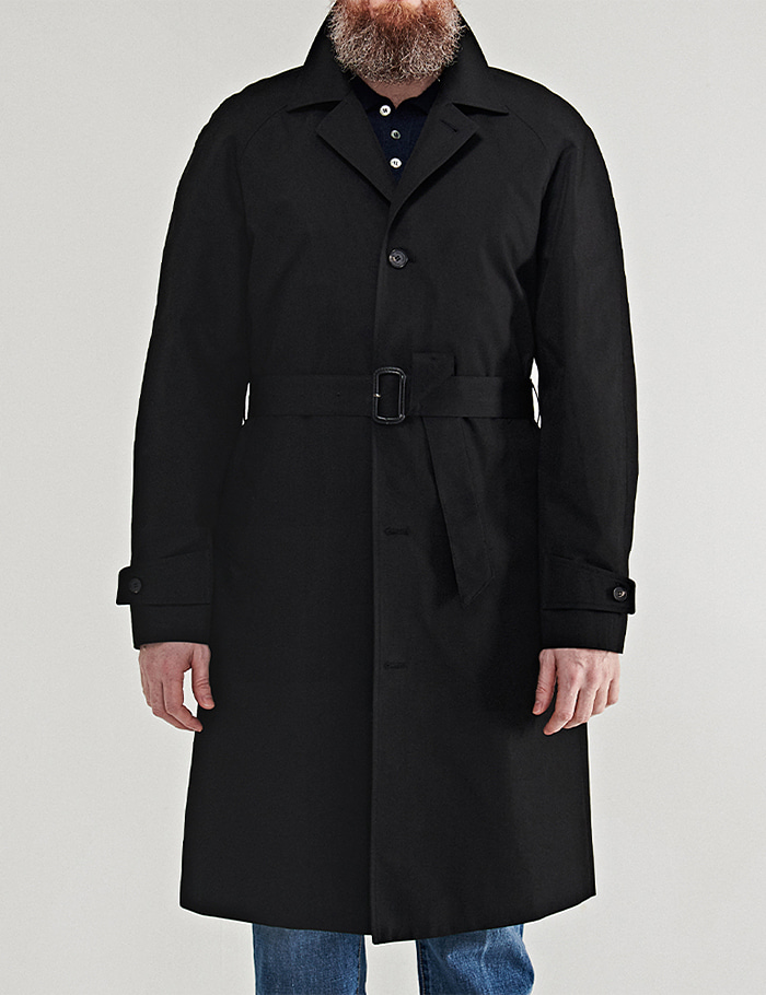 -[ORTUS VASTERDS] SINGLE TRENCH COAT BLACK