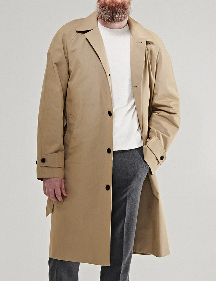 -[ORTUS VASTERDS] SINGLE TRENCH COAT BEIGE