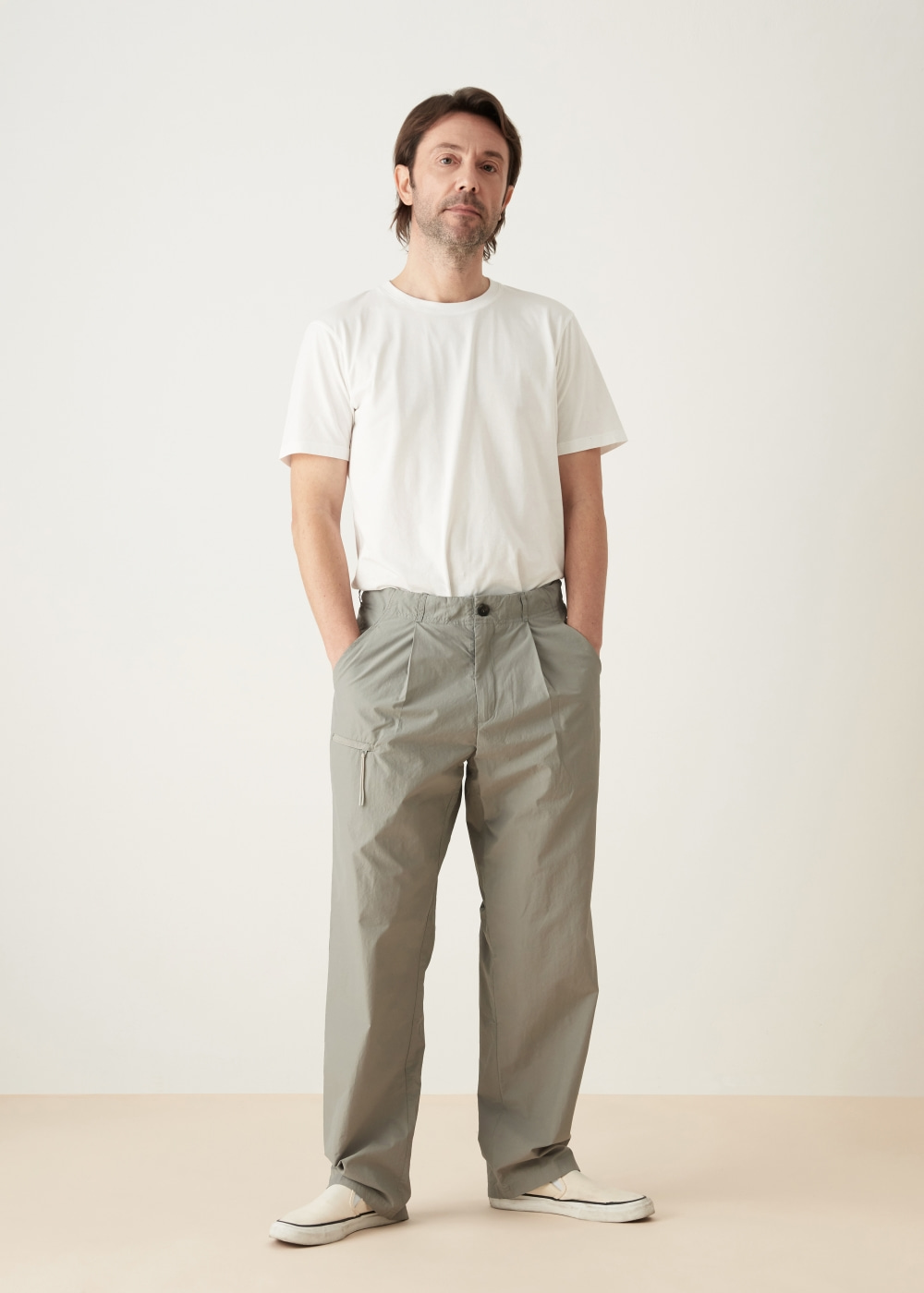 -[KOYU] nylon pants -gray