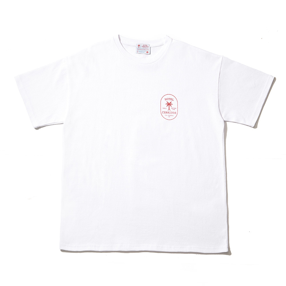 -[HOTEL CERRITOS] Palm Tree T-Shirt [White]