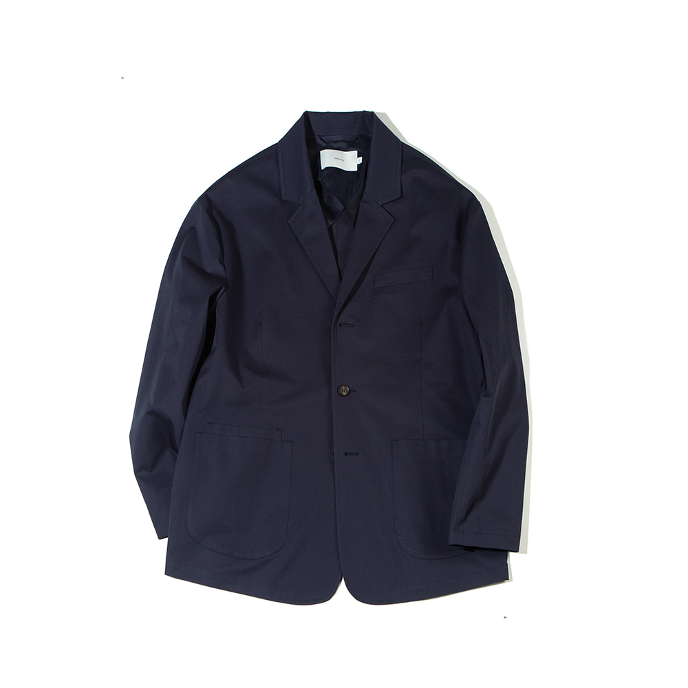 -[OURSELVES] SUPIMA COTTON SPORTS JACKET (dark navy)