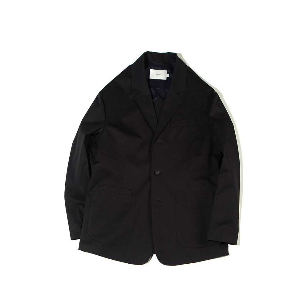 -[OURSELVES] SUPIMA COTTON SPORTS JACKET (black)