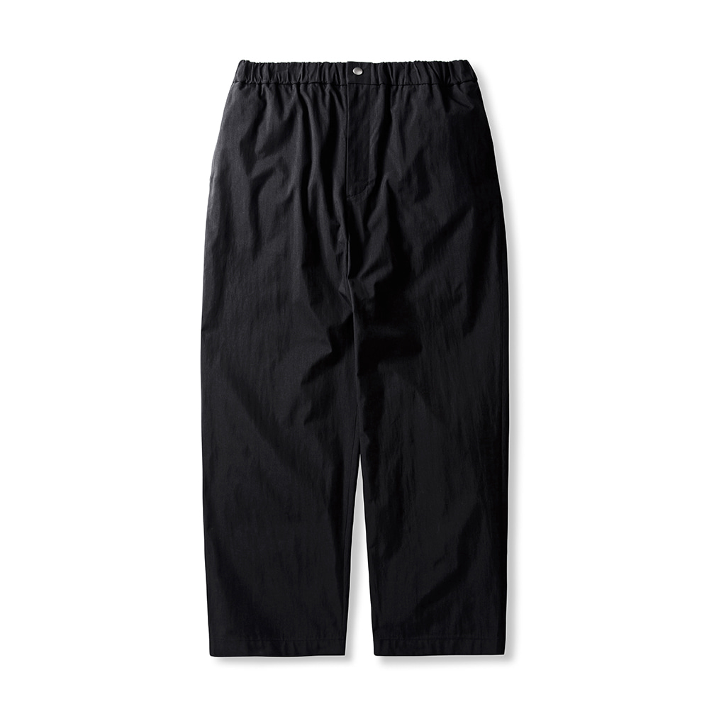 -[ESFAI] BANDDING WIDE PANTS - BLACK