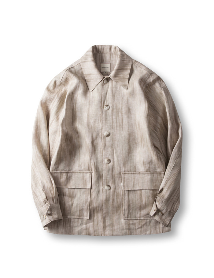 -[CHAD PROM] Linen Cardigan Jacket - Limited